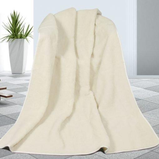 Vlněná deka bílá
