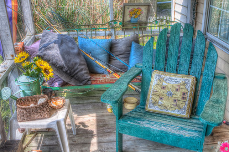 Porch at Wahab Cottage, Ocracoke Island, NC