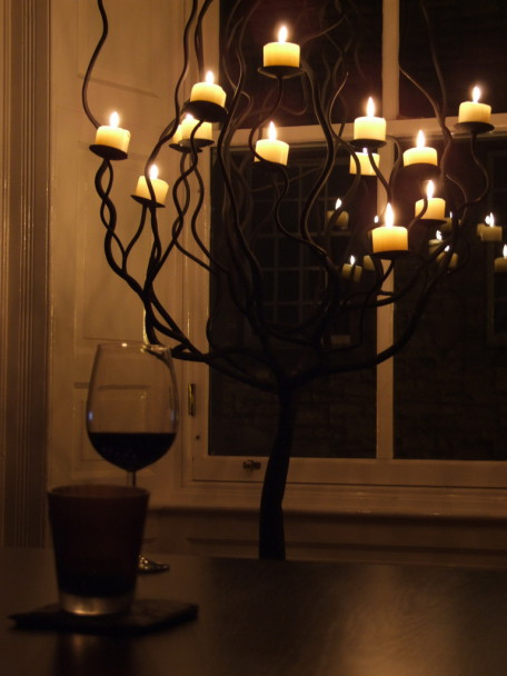 Svíčky ve svícnu